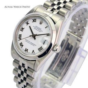 Rolex Accessories - Rolex Datejust 78240 White Roman Dial Smooth Bezel